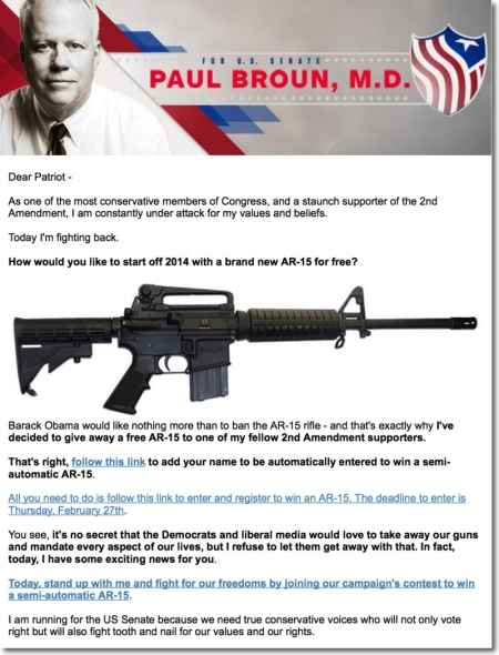 Paul Broun AR-15 rynnari